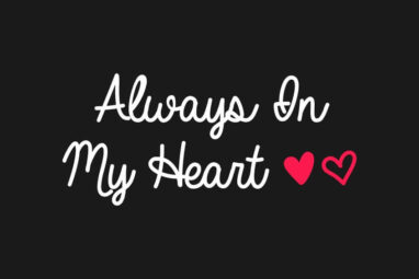 Always In My Heart Font Free Download