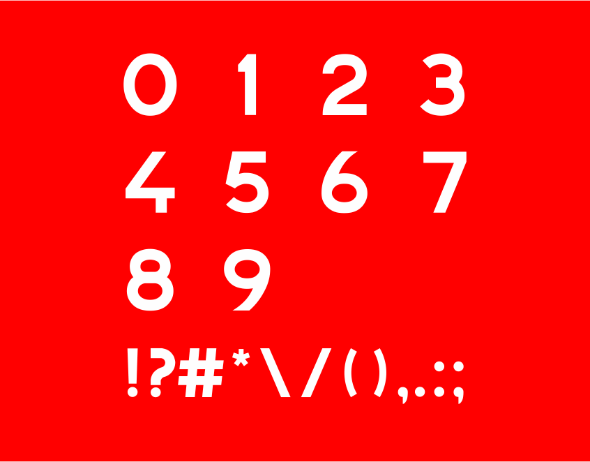 Bioweapon Font numbers