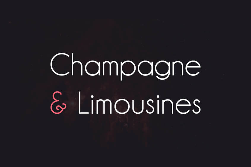 Champagne and Limousines Font