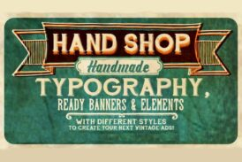 Hand Shop Typography C30 font