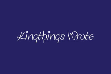 Kingthings Wrote Font