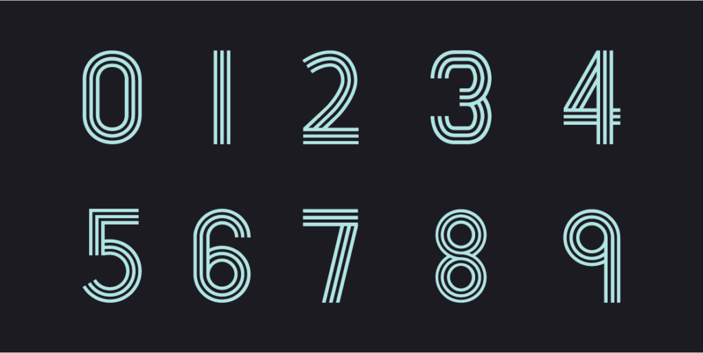Paralines Font Numbers